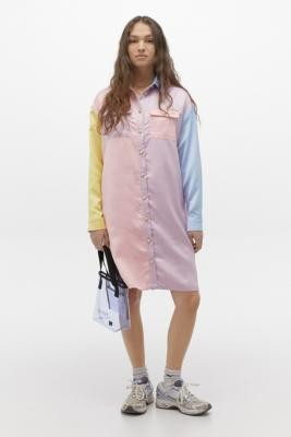 Lazy Oaf Satin Queen Shirt Dress - Assorted XS at Urban Outfitters