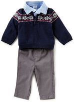 Starting Out Baby Boys 3-24 Months Fair-Isle Sweater, Button-Down Shirt, & Pants 3-Piece Set