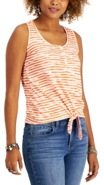 Style&Co. Style & Co Petite Printed Henley Top, Created for Macy's