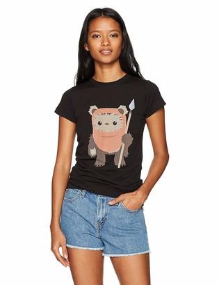 Star Wars Women's Ewok Spear Crew Neck Graphic T-Shirt