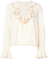 See by Chloe ruffled peasant blouse