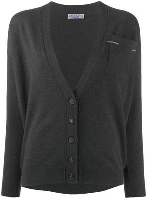 Brunello Cucinelli pocket-detail V-neck cardigan