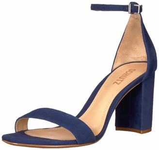 Schutz Womens Anna Lee Dress Blue Camurca Cabra 11 M