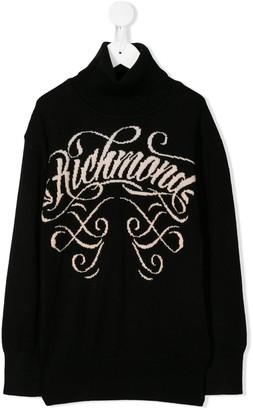 John Richmond Junior Knitted Signature Logo Sweater