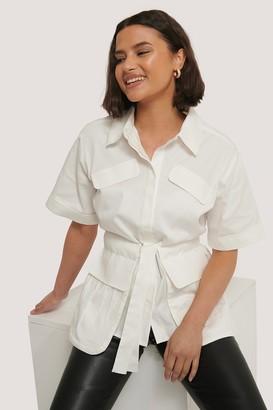 Chloé B X NA-KD Tie Front Pocket Shirt