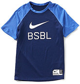 Nike Big Boys 8-20 Color Block Dri-FIT Short-Sleeve Baseball Tee