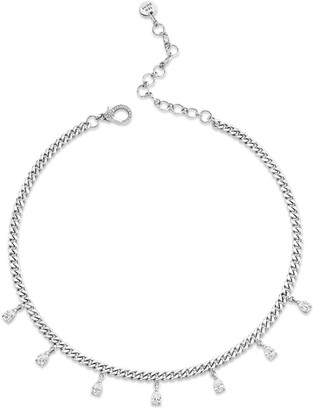 Shay Baby Link Mini Diamond Charm Choker