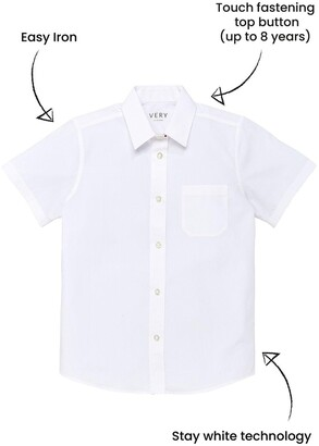 Very Girls 3 Pack Short Sleeve School Blouses - White