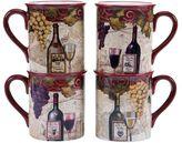 Certified International Wine Tasting Mugs (Set of 4)