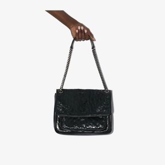 Saint Laurent green Niki medium leather shoulder bag
