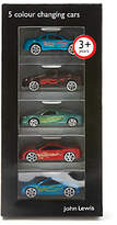 John Lewis Colour Change Cars, Pack of 5