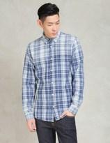 Denham Jeans Indigo Tartan Pocket Shirt