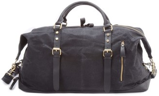 Touri Zip Detail Water Repellent Holdall In Charcoal Black