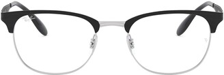 Ray-Ban Unisex's Rx6346 Square Metal Eyeglass Frames Prescription Eyewear