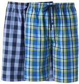 Hanes Men's Classics 2-pack Plaid Woven Jams Shorts