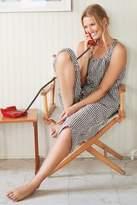 Womens Next Black Gingham Cotton Culotte Pyjama Set - Black