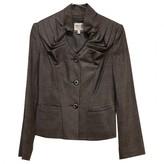 Armani Collezioni Grey Wool Jacket for Women