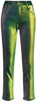Area iridescent straight-leg trousers