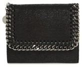 Stella McCartney Women's 'Small Falabella' Faux Leather French Wallet - Black