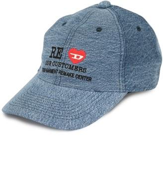 Diesel Red Tag Embroidered Denim Cap