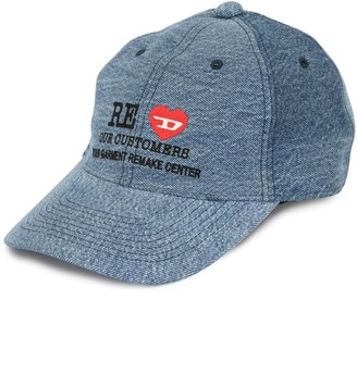 Diesel Red Tag x READYMADE embroidered denim cap