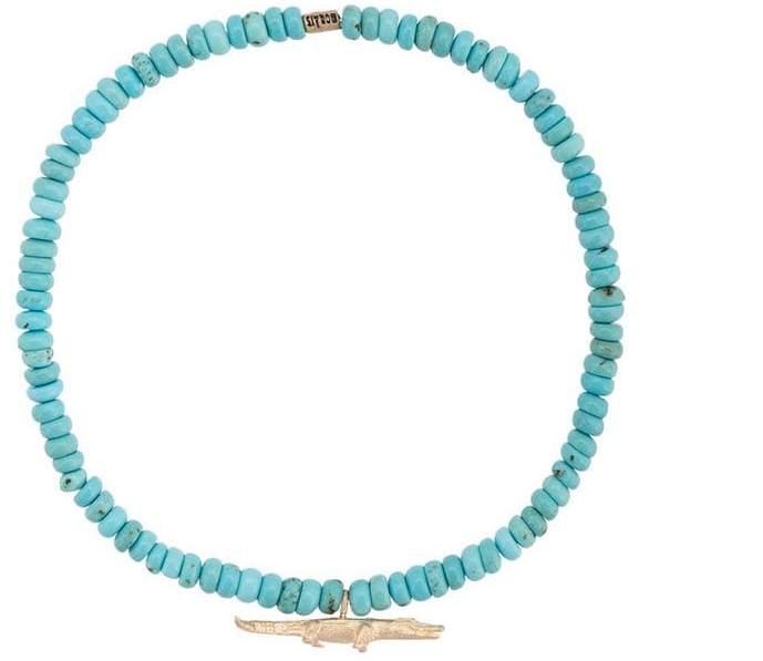 Luis Morais medium croc spacer bracelet