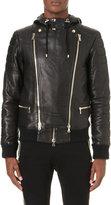 Balmain Hooded Leather Jacket