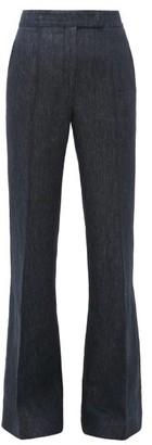 Gabriela Hearst Leda Linen-denim Flared Trousers - Womens - Denim