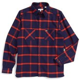 Lacoste Boy's Plaid Flannel Shirt
