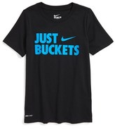 Nike Just Buckets Dri-FIT T-Shirt (Little Boys & Big Boys)