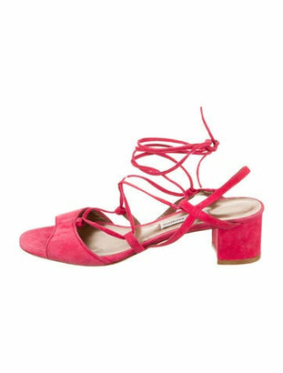 Tabitha Simmons Lori Suede Ankle Strap Sandals