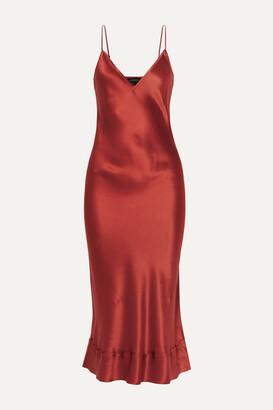 Lee Mathews Stella Silk-satin Midi Dress