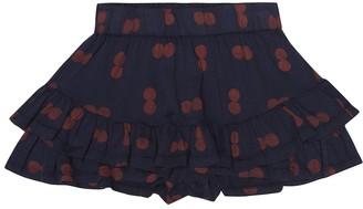 The Animals Observatory Kiwi printed cotton skirt