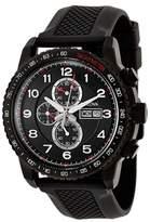 Bulova 98C112 Rubber Strap Chronograph Black Dial Tachymeter Mens Watch