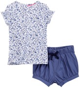 Isaac Mizrahi Floral Popover Tee & Short Set (Baby Girls)