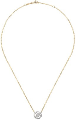 Kiki McDonough 18kt yellow and white gold Signatures helio diamond necklace