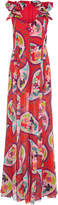 DELPOZO Printed Silk Jumpsuit