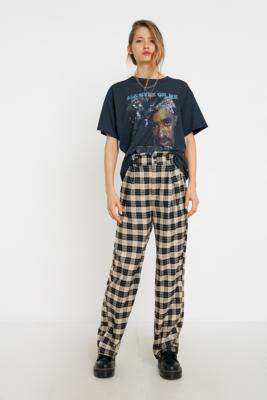 Urban Outfitters Ellie Check Paperbag Waist Trousers - beige S at