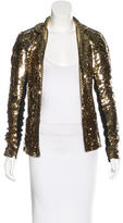 Les Chiffoniers Sequin-Embellished Notch-Lapel Blazer w/ Tags
