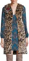 Alice + Olivia Women's Jade Faux Fur Leopard-Print Vest