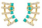 Melinda Maria 18k Plated Turquoise & Cz Keyla Ear Cuffs.