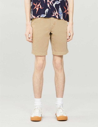 BOSS Belted stretch-cotton shorts
