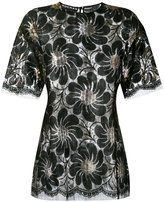 Rochas metallic floral blouse - women - Lurex/Polyamide/Rayon - 44