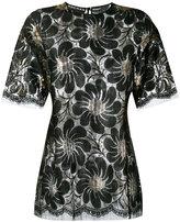 Rochas metallic floral blouse