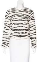 Rachel Zoe Sequined Embellished Long Sleeve Top