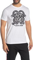 Roberto Cavalli Snake Front Graphic Short Sleeve T-Shirt