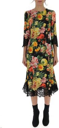 Dolce & Gabbana Floral Printed Midi Dress