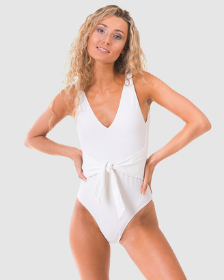 RH Swimwear - Women's White One-Piece Swimsuit - Belt One Piece - Size One Size, XS at The Iconic