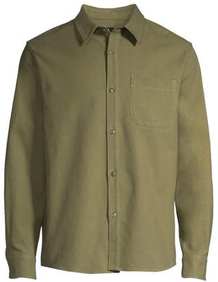 A.P.C. Surchemise Cotton & Linen Trek Shirt