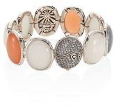 John Hardy Bamboo Diamond Pave & Multicolor Moonstone Bracelet